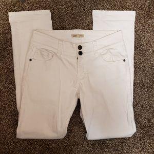 Cabi white straight leg jeans size 8